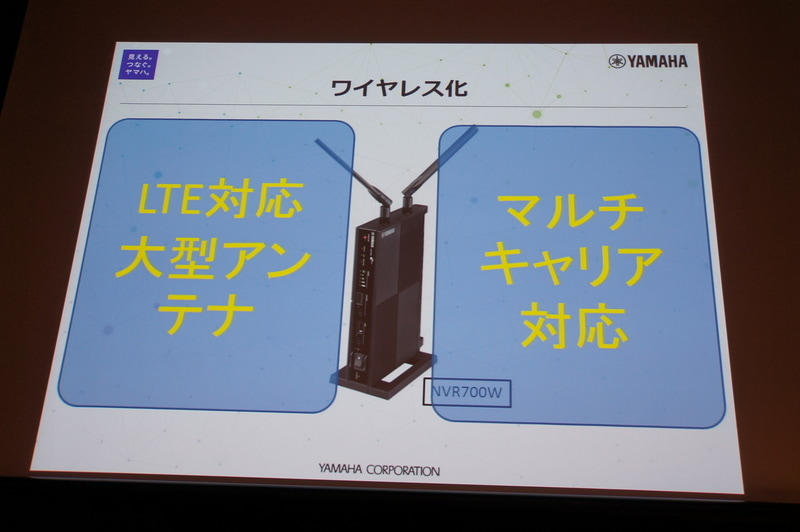 LTEマルチキャリア対応のルータ「NVR700W」