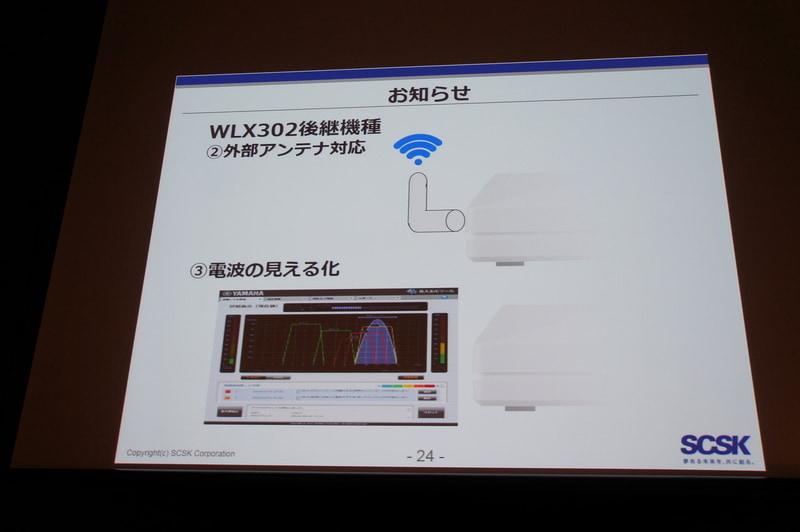 WLX302後継機の機能:外部アンテナ対応と電波の見える化の強化