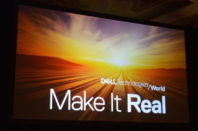「Dell Technologies World」としては初のカンファレンスとなった今回のテーマは「Make It Real」、DXの現実化を呼びかけている