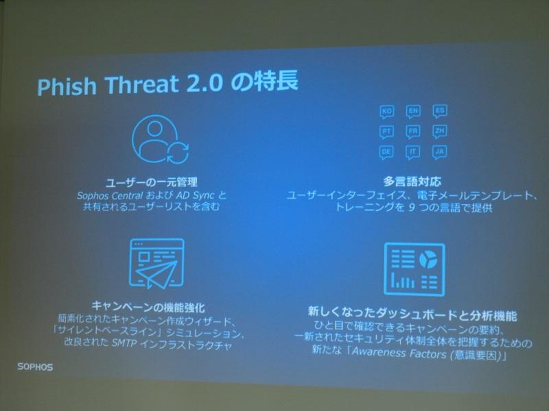 Phish Threat 2.0の特徴