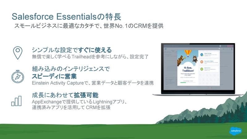 Essentialsの特徴は、シンプル、スピーディー、拡張性