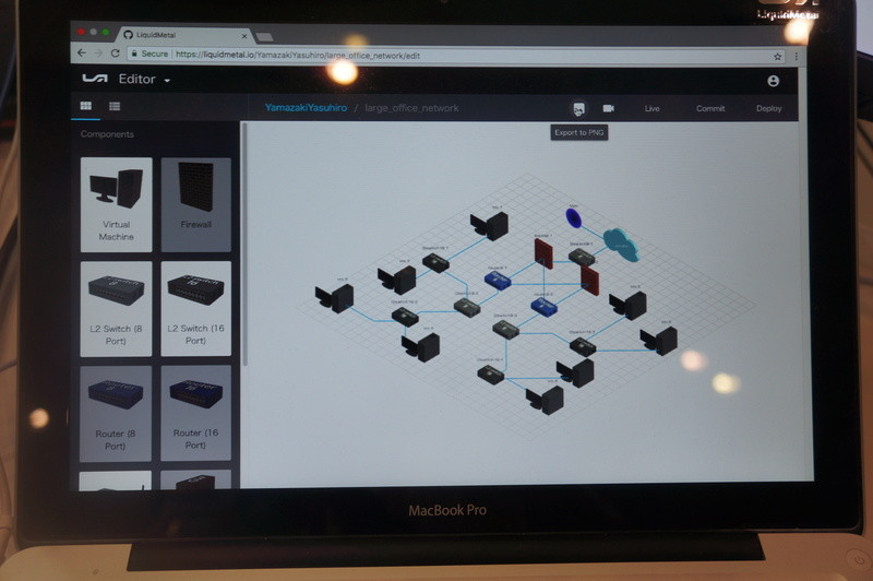 LiquidMetal.ioのネットワーク作成画面