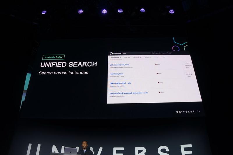 同じ画面からGitHubとGitHub Enterpriseを検索できる「Unified Search」