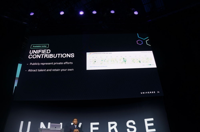 開発者のコントリビューション状況を図示するコントリビューショングラフでGitHub EnterpriseとGitHub.comを合わせて表示できる「Unified Contribution」