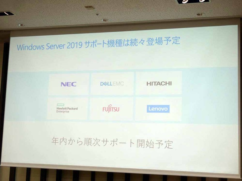 Windows Server 2019をサポートした製品が順次投入される