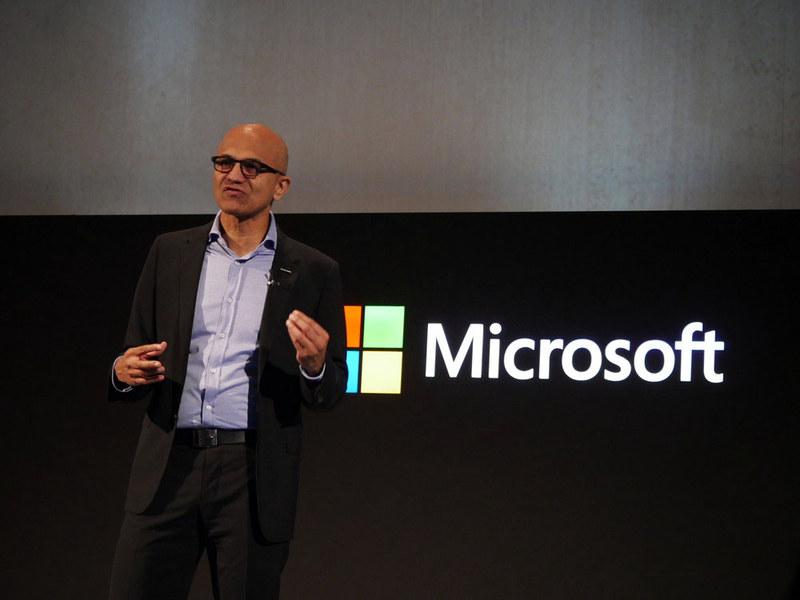 米Microsoft 最高経営責任者(CEO)のサティア・ナデラ氏