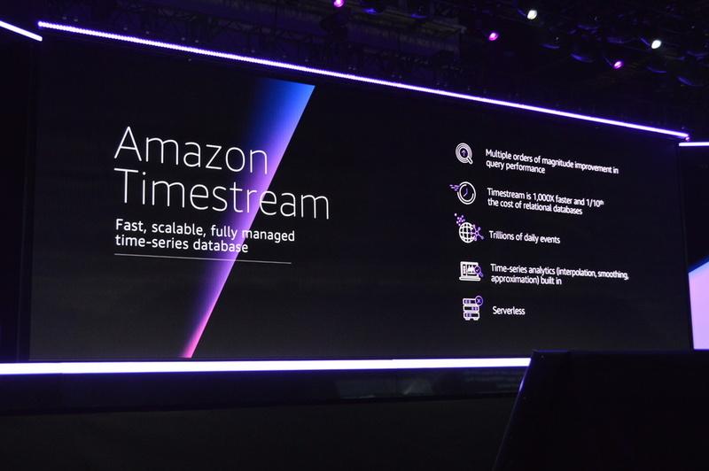 従来の時系列データベースに比較して、スケーラブルで低コストな「Amazon Timestream」もフルマネージドで登場