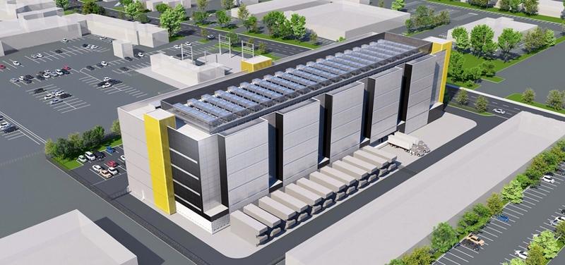「カリフォルニア シリコンバレー 1(SV1)データセンター」の外観イメージ
