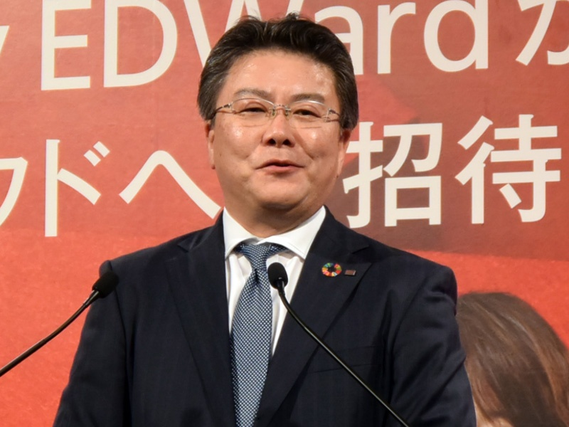 リコージャパンの代表取締役 社長執行役員 坂主智弘氏