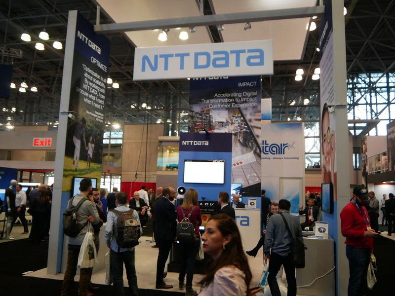 NTTデータのブースの様子