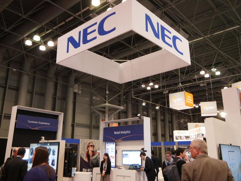 NECでは、AIの活用や無人店舗の取り組みを展示