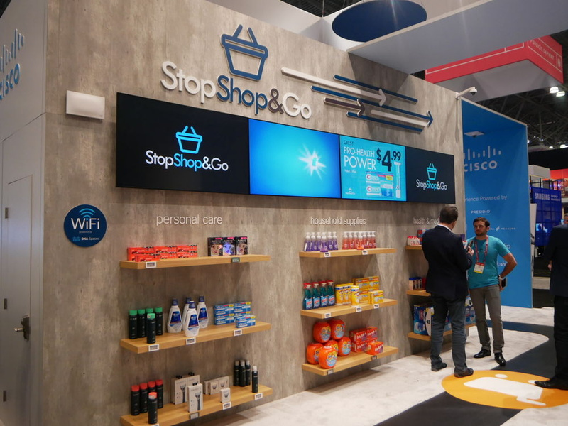 Ciscoは、顧客向けアプリ「Stop Shop & Go」による店舗ソリューションを展示