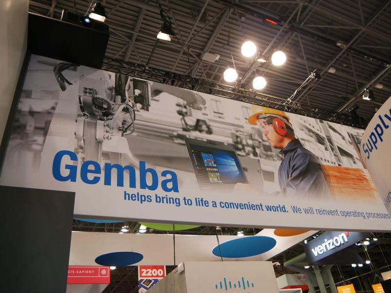 パナソニックブースでは「GEMBA Process Innovation」を訴求。今後、「現場」を世界共通の言葉として訴求するという