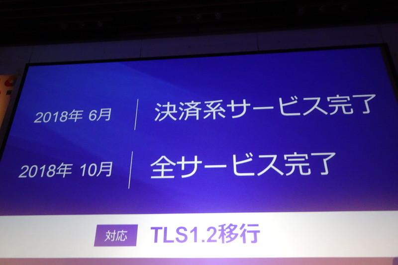 6月に決済系サービスの、10月に全サービスのTLS1.2移行を完了