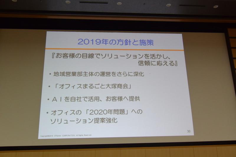2019年度の方針と施策