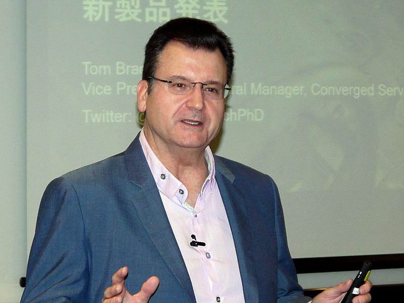 米Hewlett Packard Enterprise エッジ・IoTシステム、コンバージドサーバー部門 バイスプレジデント兼ゼネラルマネージャーのトム・ブラディシッヒ氏