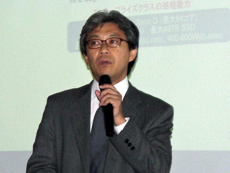 日本ヒューレット・パッカード ハイブリッドIT事業統括 ハイブリッド製品統括本部 Edgelineカテゴリマネージャーの北本貴宏氏