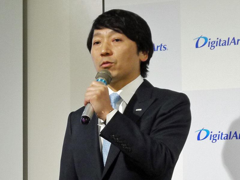 デジタルアーツ 代表取締役の道具登志夫氏