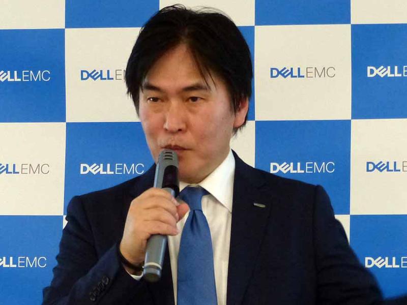 Dell EMC 上席執行役員 広域営業統括本部長 清水博氏