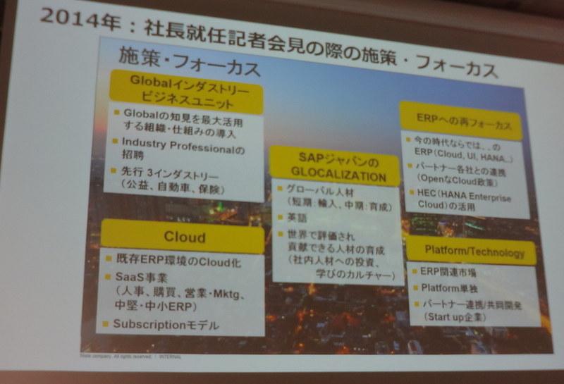2014年、福田氏社長就任時の施策