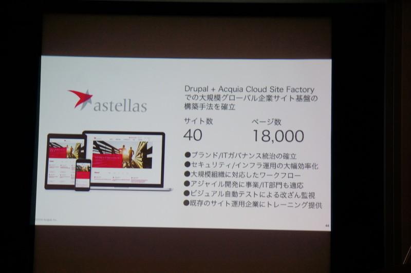 アステラス製薬の事例。多言語40サイトを構築