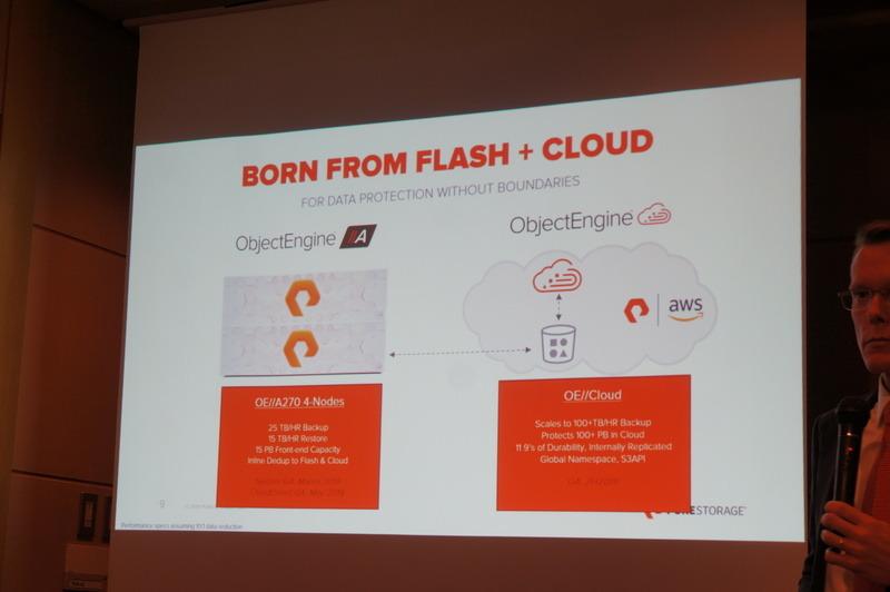 アプライアンス製品の「ObjectEngine//A」とクラウド上のソフトウェア製品の「ObjectEngine//Cloud」の2種類