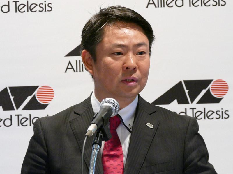 アライドテレシス 上級執行役員 マーケティング統括本部 統括本部長の佐藤誠一郎氏