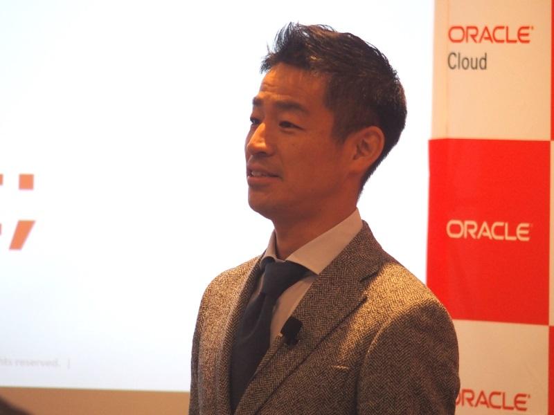 日本オラクル執行役員クラウドプラットフォーム戦略統括の竹爪慎治氏