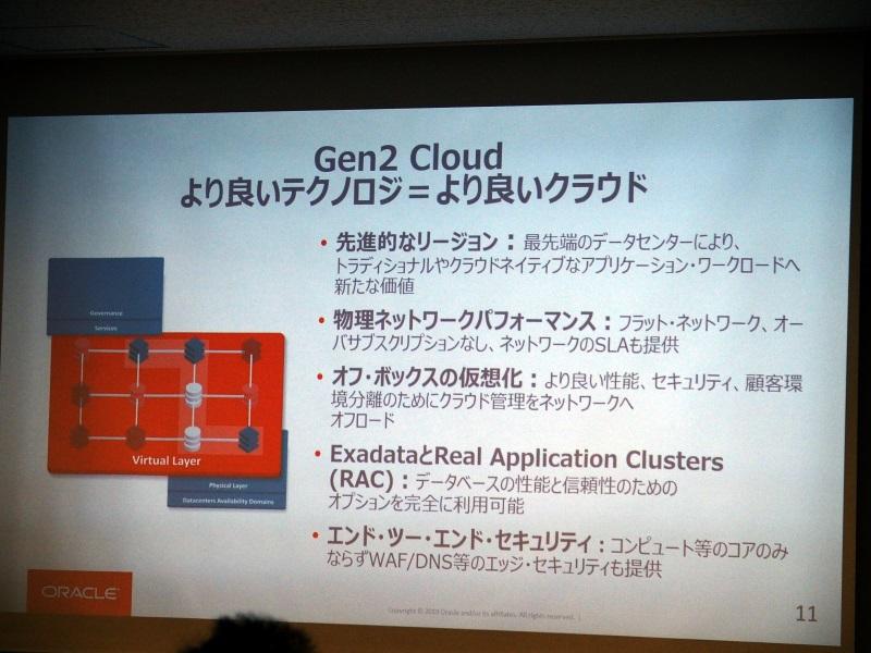 Oracle Gen 2 Cloudの概要