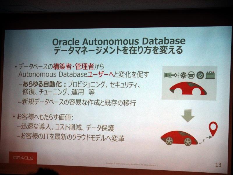 自律型データベース「Oracle Autonomous Database」を提供