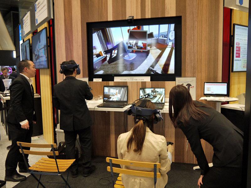 「VRを活用した近未来のネットショッピング」の展示
