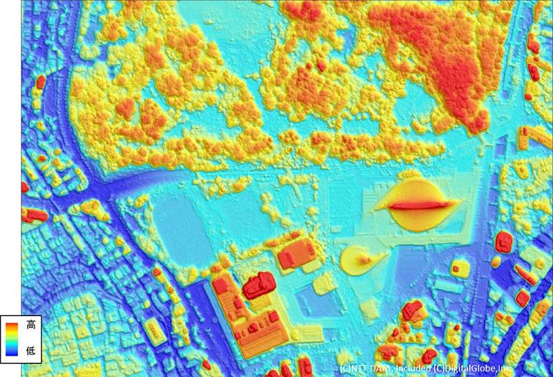 50cm解像度地形データ