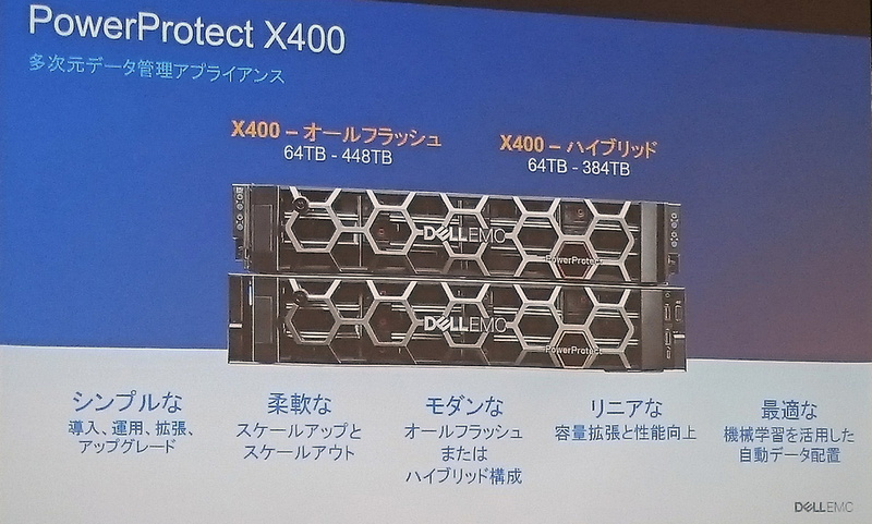 アプライアンスのPowerProtect X400