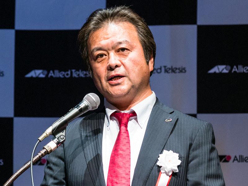 アライドテレシス 代表取締役 副社長の長尾利彦氏