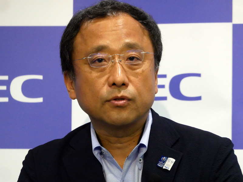 NEC 執行役員 吉崎敏文氏