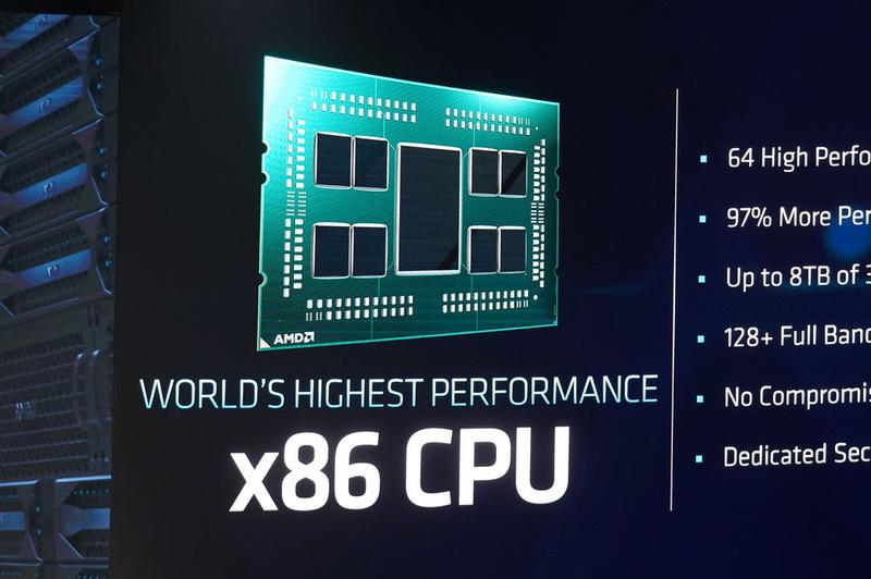 第2世代EPYCは世界最高性能のx86プロセッサだという