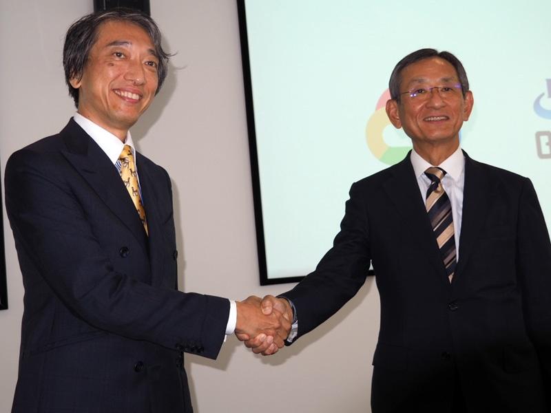 左から、グーグル・クラウド・ジャパンの阿部代表、福岡銀行の横田取締役副頭取