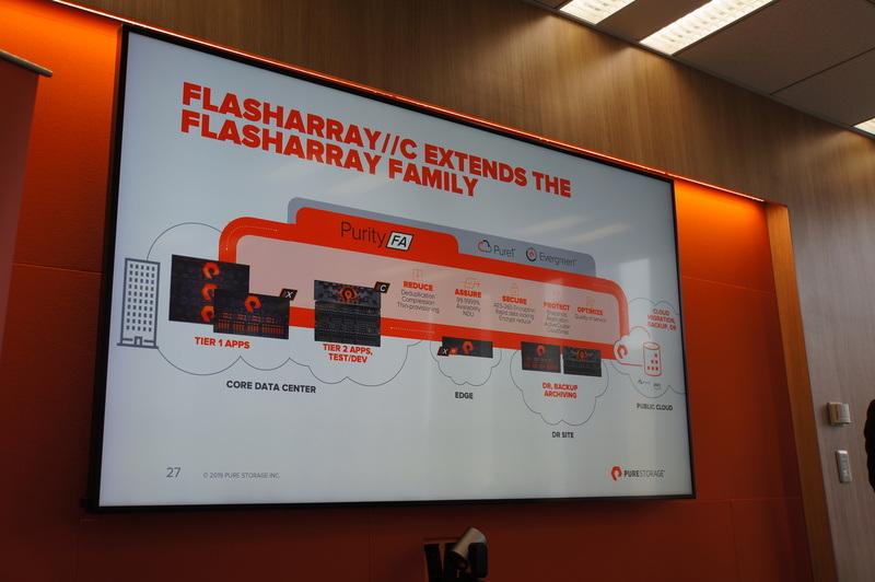 FlashArray//Cでオールフラッシュなデータセンターを実現できる