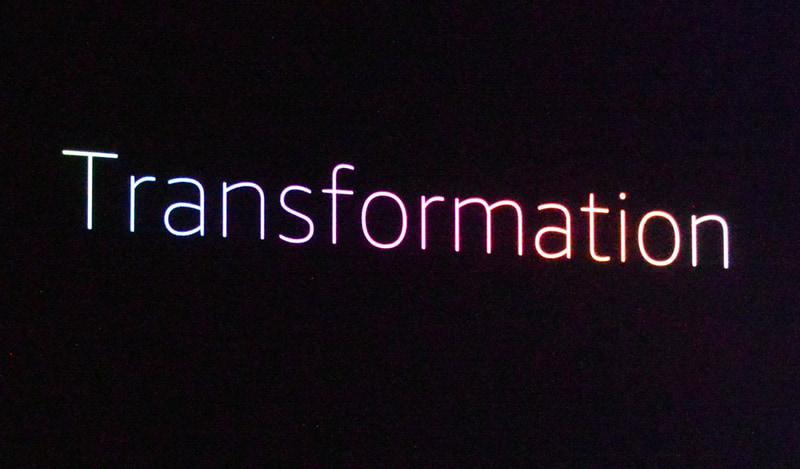 ジャシーCEOが今年のキーノートで掲げたテーマは「Transformation(変革)」