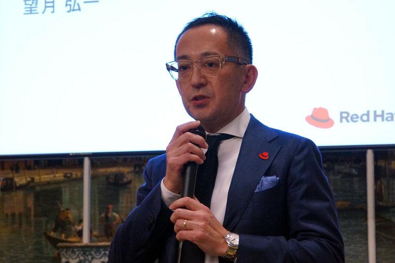 レッドハット株式会社 代表取締役社長 望月弘一氏