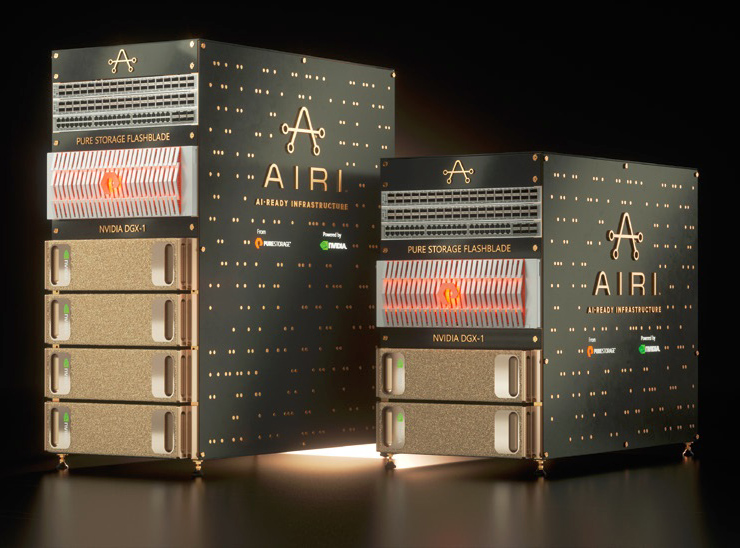 写真4:Pure Storage AIRI(出典:ピュア・ストレージ・ジャパン)