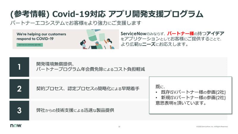 COVID-19対応のアプリケーション開発支援プログラム