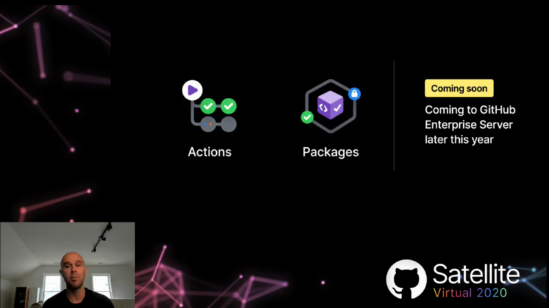 GitHub Enterprise Serverに、GitHub ActionsとGitHub Packagesの機能が今年後半にやってくる