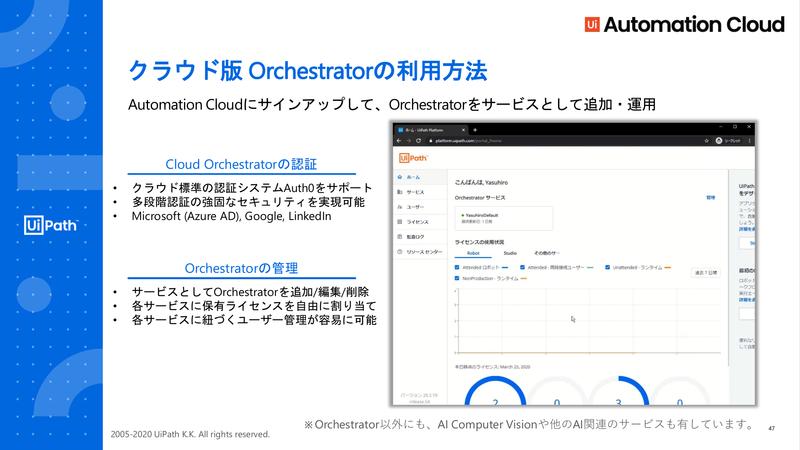 UiPath Automation Cloudの一機能として提供