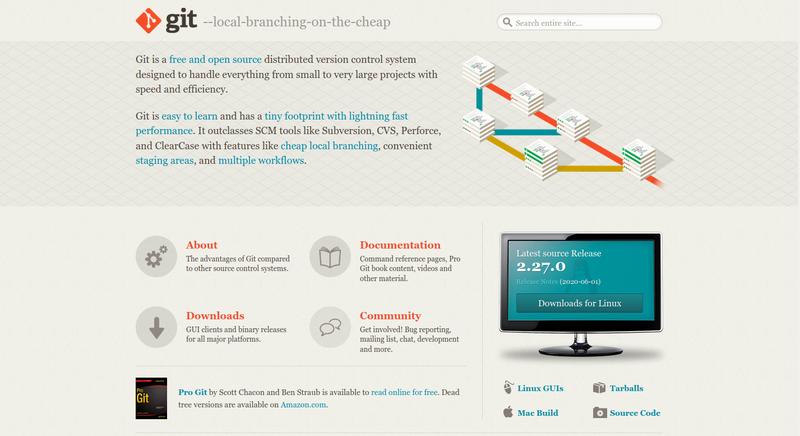 Gitの公式サイト