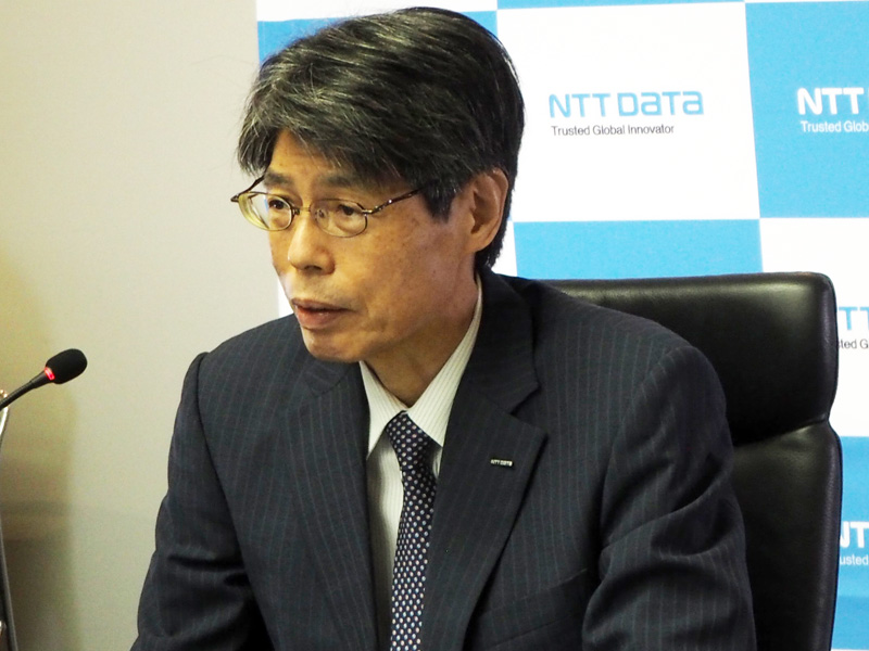 NTTデータ 取締役常務執行役員 技術革新統括本部長 木谷強氏