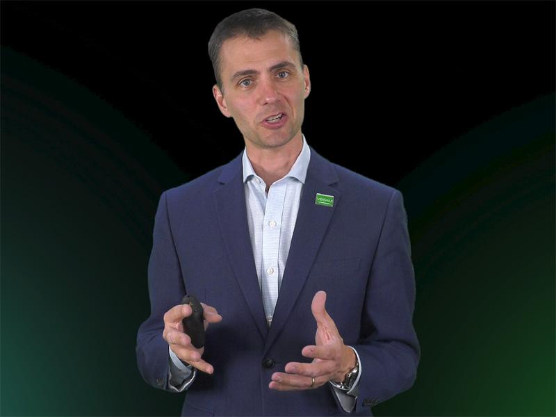 オンライン基調講演中の、Veeam Software最高技術責任者(CTO)兼製品戦略部門シニアバイスプレジデント ダニー・アラン氏