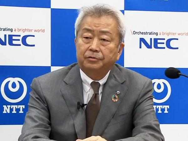 NTT 代表取締役社長 社長執行役員の澤田純氏