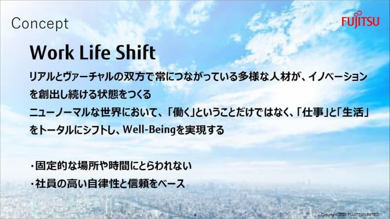 「Work Life Shift」がコンセプト