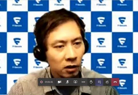 エフセキュア株式会社の目黒潮氏(サイバーセキュリティ技術本部シニアセールスエンジニア)